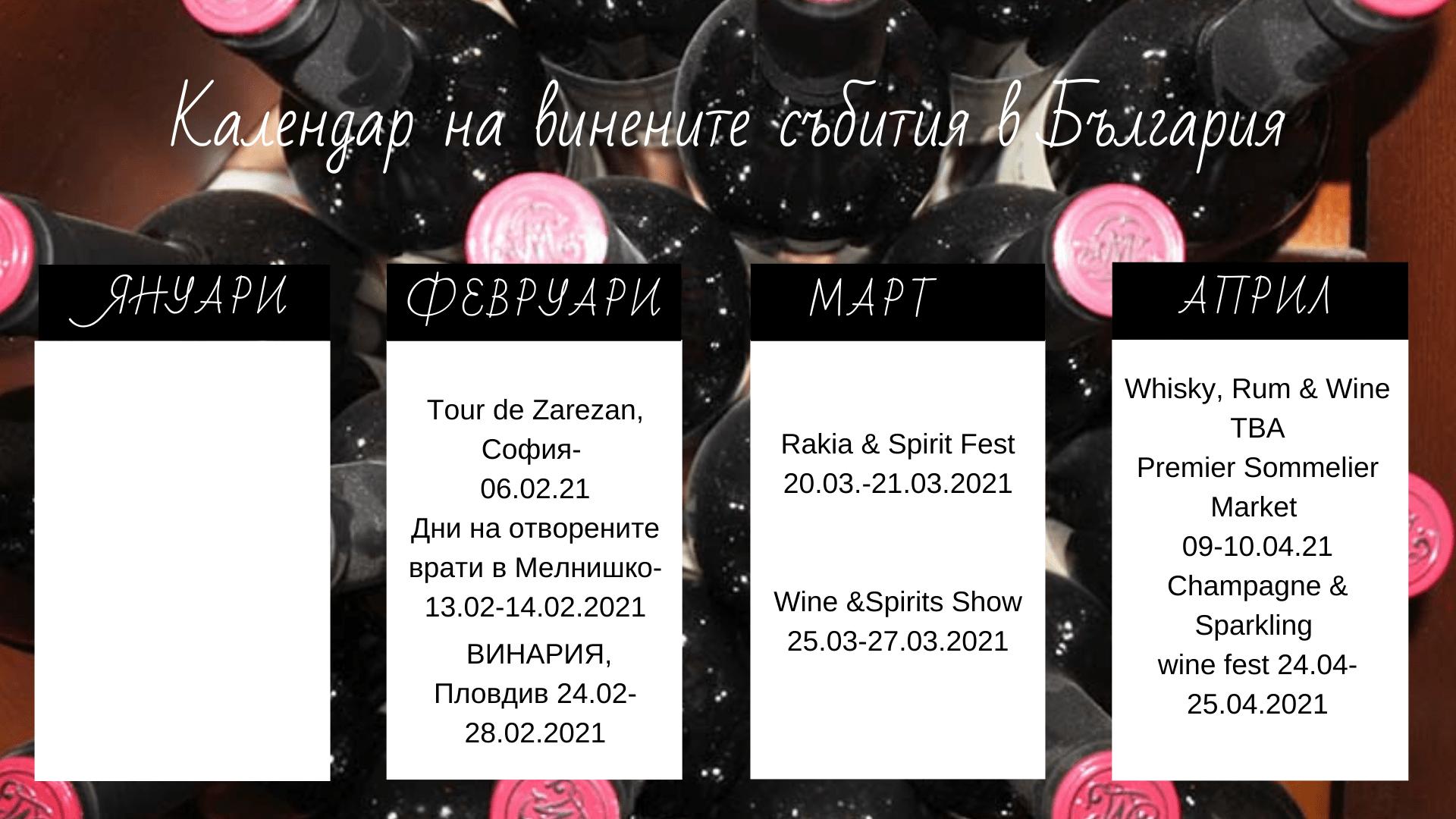 календар на винените събития в България